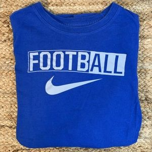Boys Nike Football Graphic Long Sleeve T-shirt